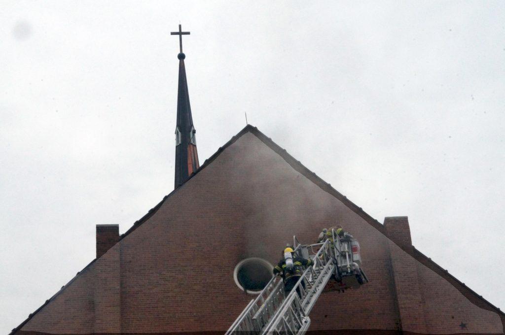 Area Firefighters Battle St. Joseph Church Blaze