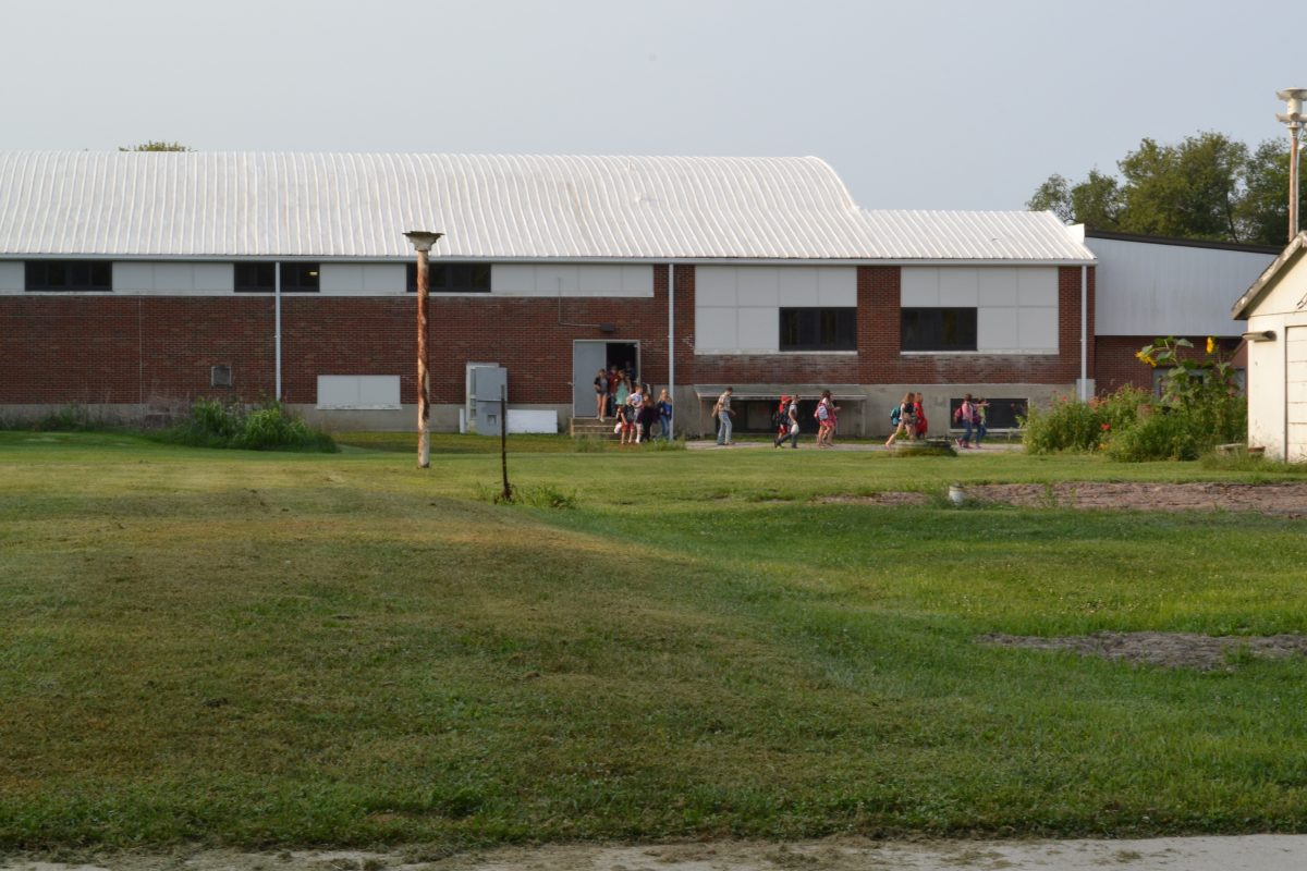 Students were evacuated through a door on the north side of the building and sent to Black Hawk.