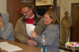 Steve Howell congratulates Jena Church for winning the Clark County Clerk's race.