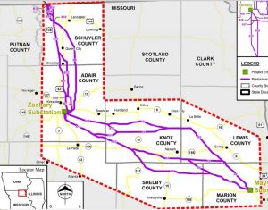 This is a picture of the Mark Twain Transmission Project Study Map. Click the image to view the map on their website.