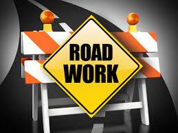 ahead roadwork