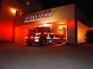 ambulance flashing
