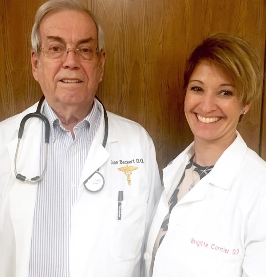 Dr. John Beckert and Dr. Brigette Cormier