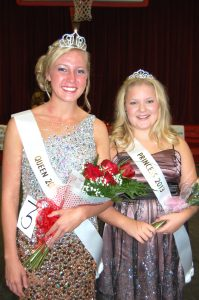 OLD SETTLERS' Queen and Princess--the 2013 Old Settlers' Queen and Princess contest was held Sunday afternoon. This year's Queen is Camille Frazier, and the Princess is Kennedy Johnson.
