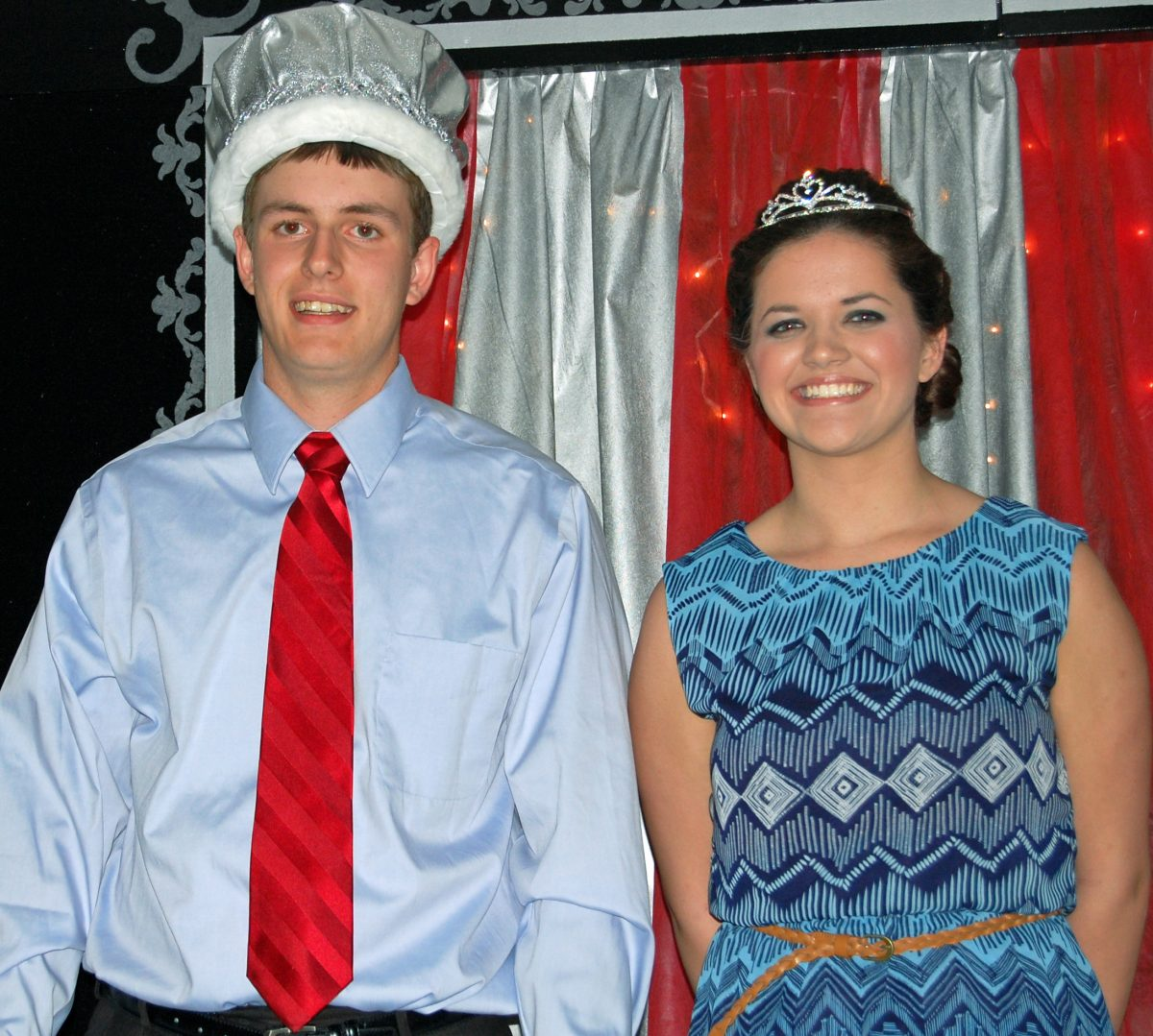 2014 Prom King Marshall Thompson and Queen Kelsey Saunders