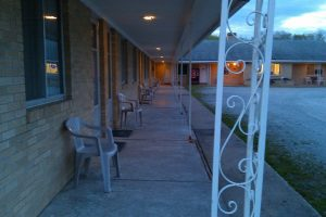 We took this photo at the Bon Air Motel just before dusk on May 21, 2010.