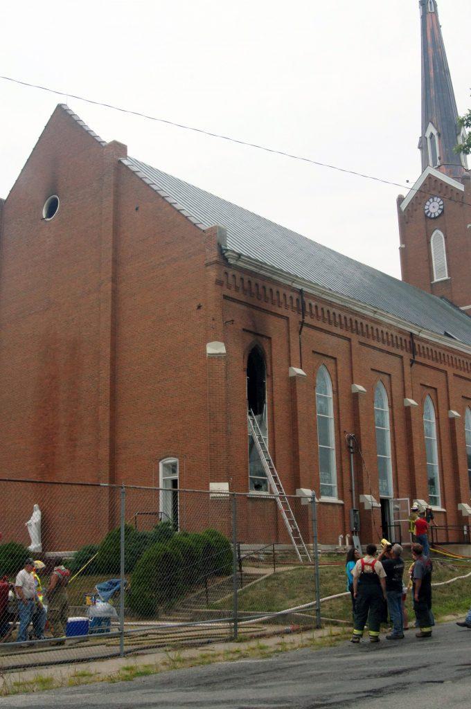 Aftermath of August 15, 2013 Fire At Edina St. Joseph Church