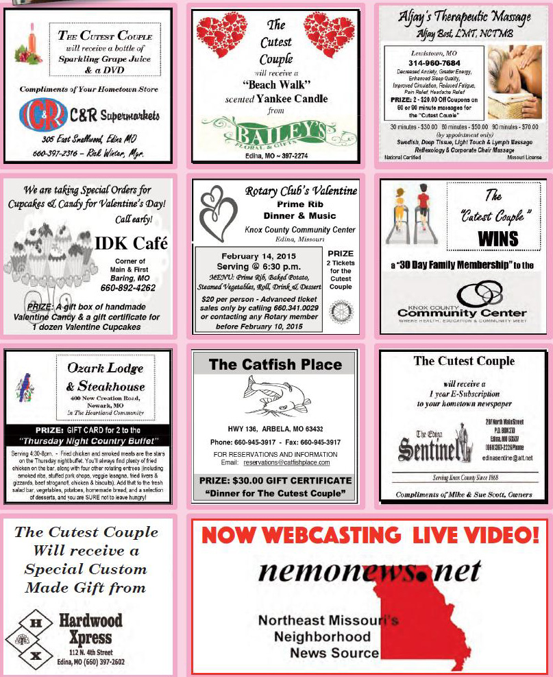 Couples Contest Sponsors Sentinel