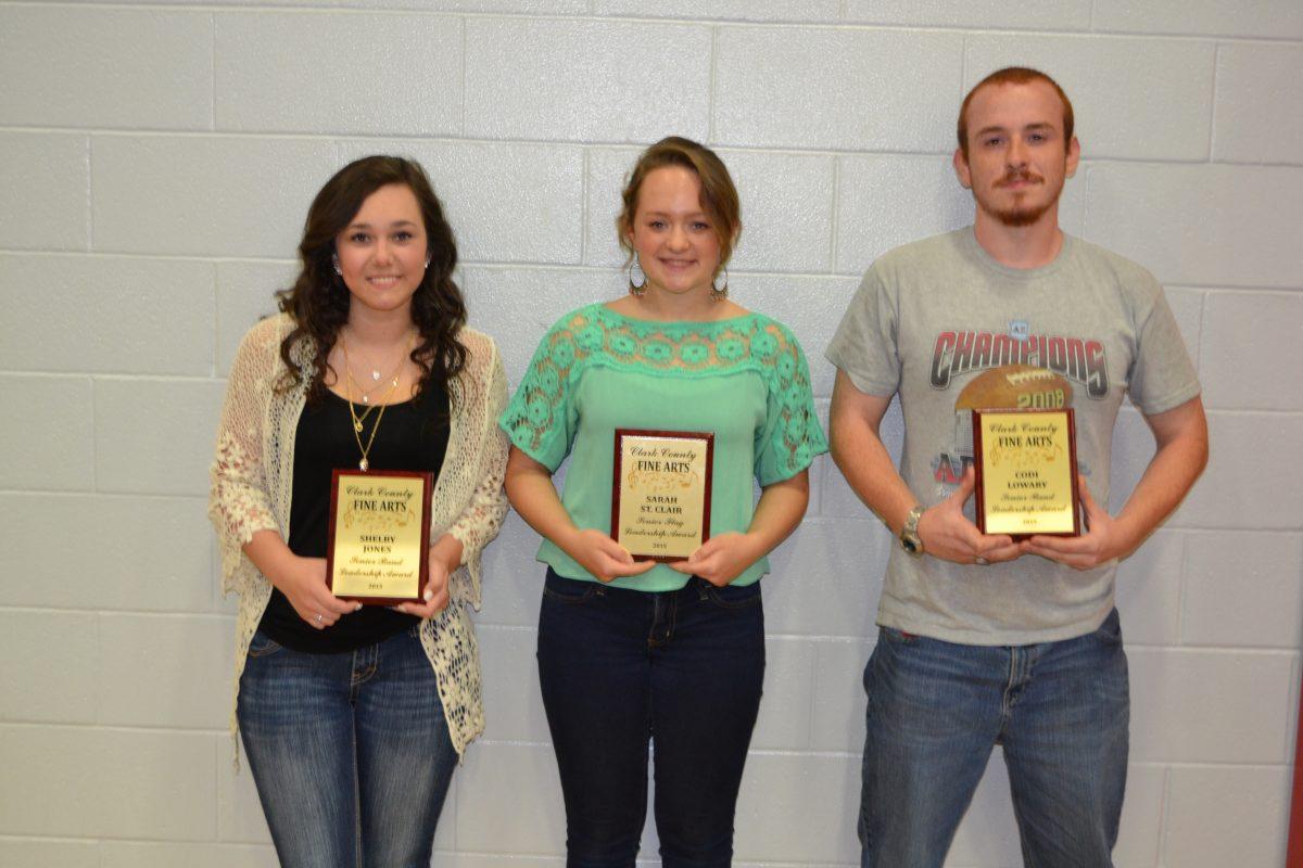 Leadership Awards-Shelby Jones, Sarah St. Clair, Codi Lowary
