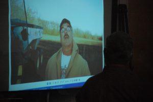 The second to last photo taken by Bill Bacon, showing Glenn Head approaching.