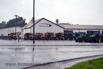 Prairieland and IMI Equipment were surrounded by water
