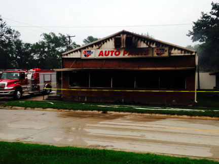Ott's Auto Supply was destroyed in a suspected burglary/arson on Tuesday morning, July 7.
