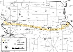 Grain belt express graph