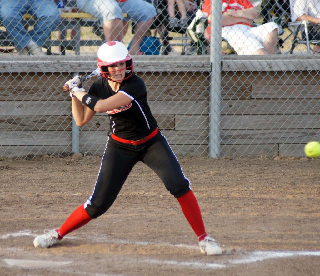 Lauren Dale bats for Knox County during season opening 15-1 loss at Highland.