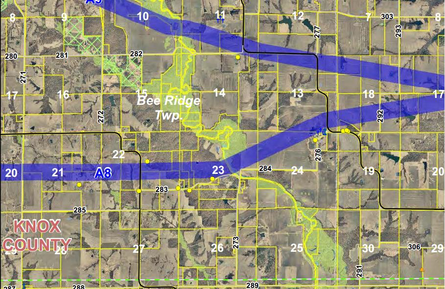 This is a picture of a detailed maps provided to the public by Mark Twain Transmission Project Planners. Click the photo to be taken to their website where you can view and zoom in to detailed mapping of the proposed transmission line routes. They are asking for constructive feedback about the proposed.