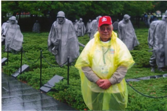Korean War Veteran, Gerald Sharp, at the Korean War Memorial in Washington, D.C., on Thursday, October 2, 2012. Sharp was on the Great River Honor Flight's 15th Mission.
