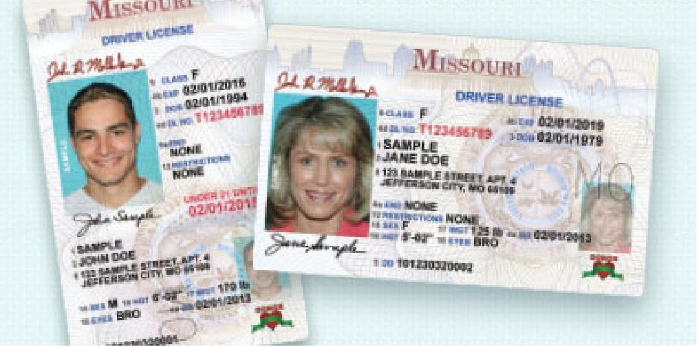 Missouri License File Photo