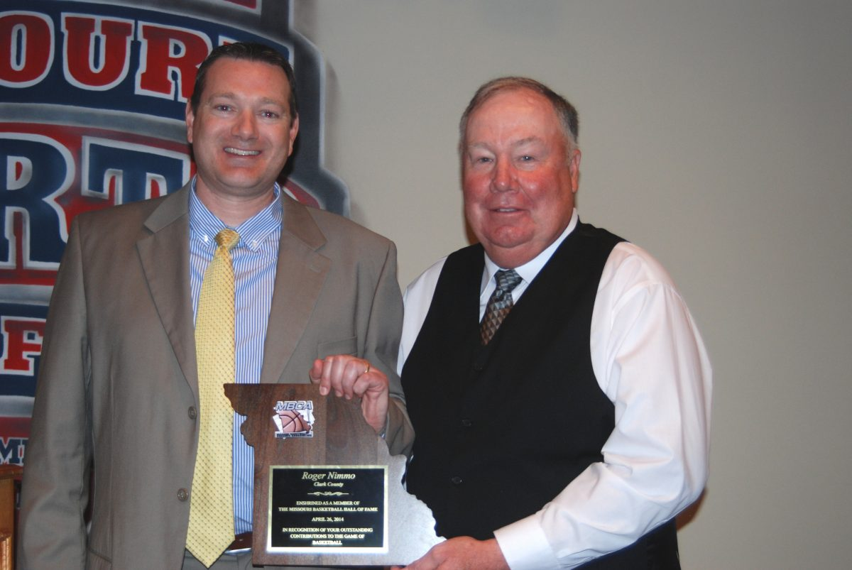 Roger Nimmo was inducted into the Missouri Basketball Coaches Association Hall of Fame on Saturday, April 26.