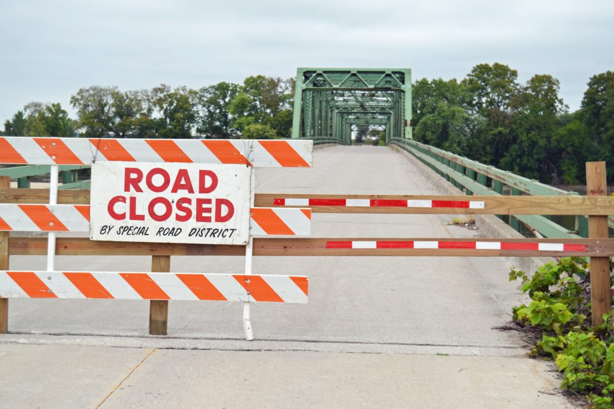 The old Des Moines River bridge at St. Francisville was closed last week. MoDOT recommended its closure following an August inspection.