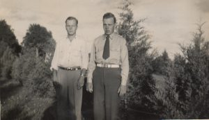 Korean War Veteran Gerald Sharp (right), 83, of Edina and his brother, Paul (left), in 1950. Sharp served in the Army from 1950 to 1952. He was 21 years old when this photo was taken.