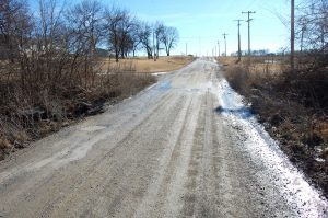 The City of Kahoka and Clark County will cooperate on the replacement of the bridge on North Vine, north of the cemetery. As the above picture shows, it has no side rails and is crumbling. The bridge is at the edge of Kahoka's city limits.