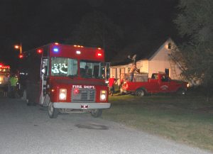 Kahoka firefighters responded to a blaze in vacant, recently condemned house in Kahoka on Wednesday evening.
