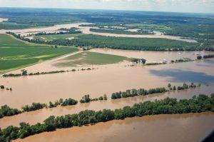Flood waters closed HWY 136 near Alexandria