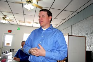 Congressman Sam Graves met with over 50 local residents on Friday afternoon at Steve's Family Dining in Kahoka.