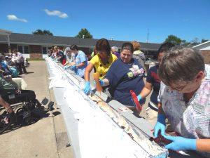 Clark County Nursing Home Builds 50-Ft Banana Split