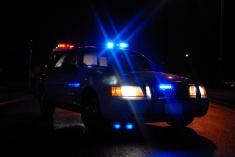 police car night